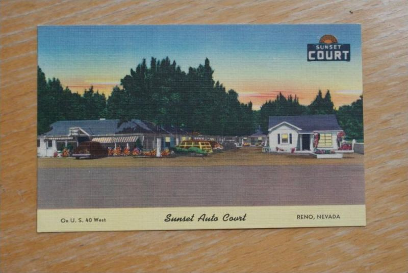 USA - NEVADA - RENO, Sunset Auto Court on U.S.40 West