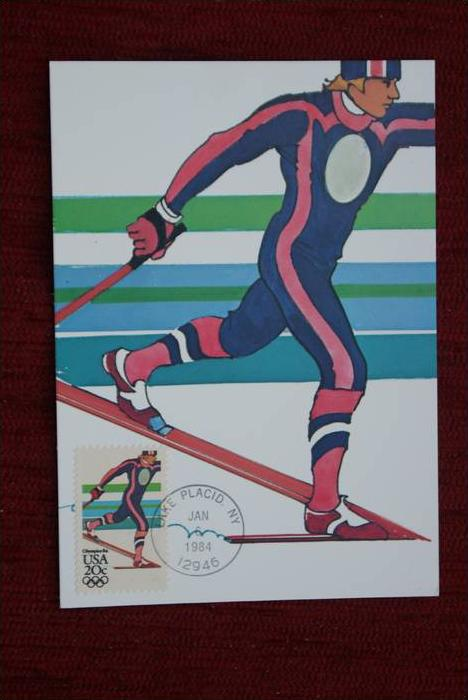 SPORT - Wintersport - Langlauf - Olympiade 1984 Lake Placid