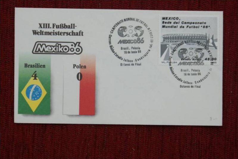 SPORT - FUSSBALL - WM 1986    Brasilien - Polen  4 : 0