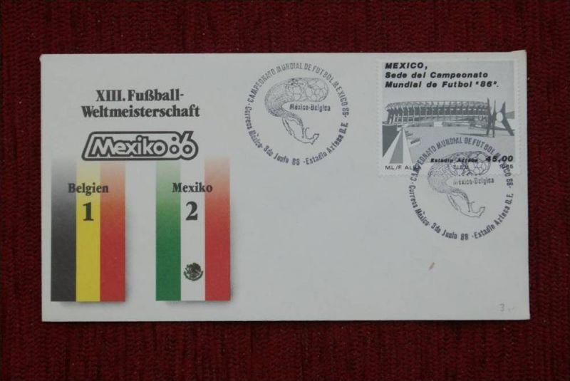 SPORT - FUSSBALL - WM 1986  BELGIEN - MEXICO   1 : 2