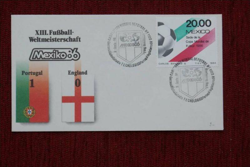 SPORT - FUSSBALL - WM 1986  PORTUGAL - ENGLAND   1 : 0