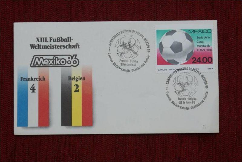 SPORT - FUSSBALL - WM 1986  FRANKREICH - BELGIEN   4 : 2