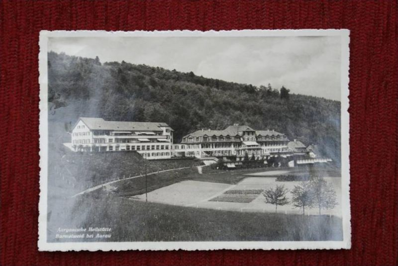 CH 5017 BARMELWEID - Aargau, Aargauische Heilstätte, leichte Klebereste auf der Rückseite