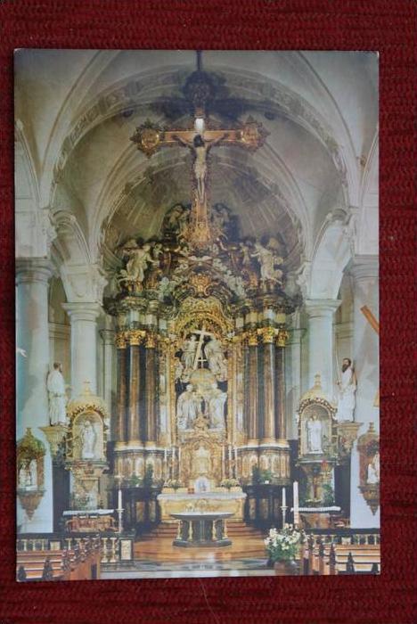 B 4700 Eupen - St. Nikolaus - Kirche, Innenansicht