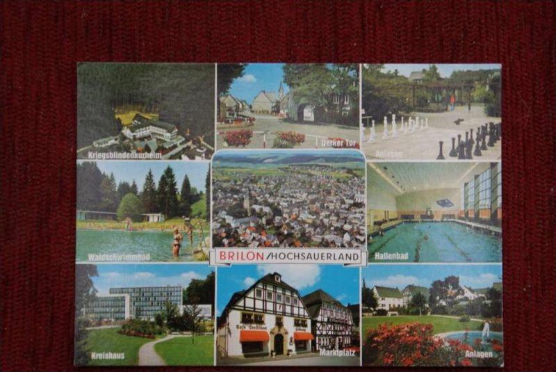 SPORT - SCHACH, Freiluftschach, open air chess - Brilon