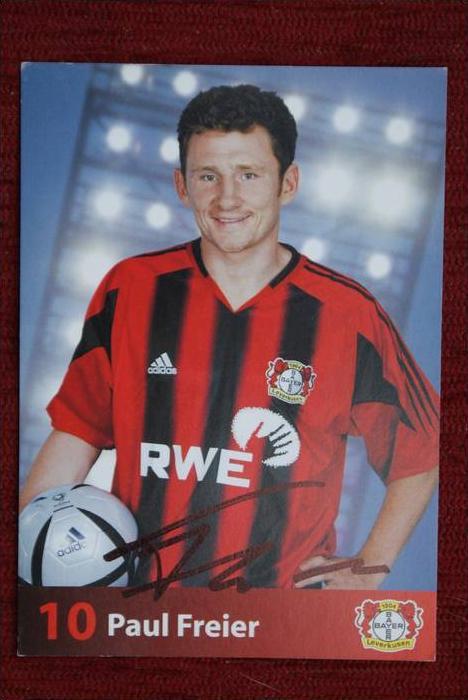 SPORT - FUSSBALL - BAYER LEVERKUSEN - PAUL FREIER - Autogrammkarte 2004/2005