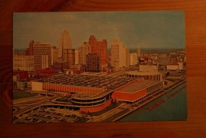 USA - MICHIGAN, 48200 Detroit, Civic Center & Skylne