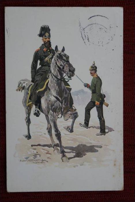 POLIZEI - Königliche Bayerische Gendarmerie 1873, Künstlerkarte: Anton Hoffmann - München