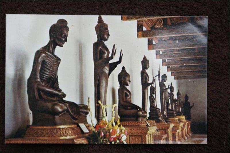 THAILAND - SIAM, Wat Benchamabopitr, Buddhas