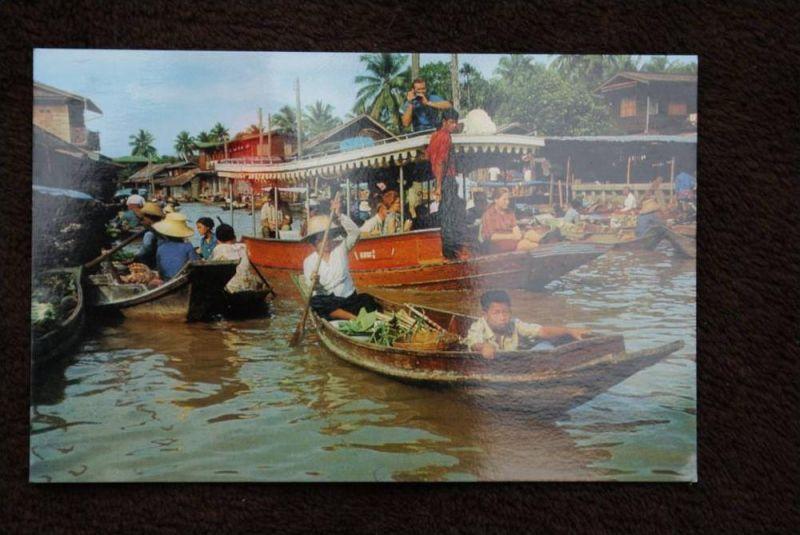 THAILAND - SIAM, Dhonburi, Wad Sai Floating Market