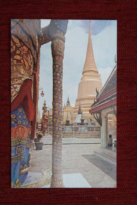 THAILAND - SIAM, Bangkok, Emerald Buddha Temple, Golden Chedi