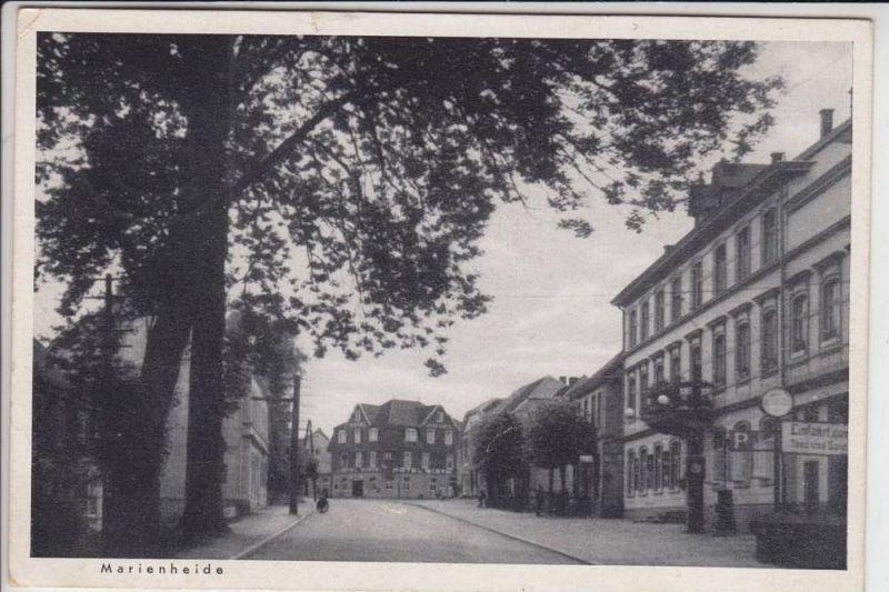 5277 MARIENHEIDE, Strassenansicht 1944, kleine Eck- & Randmängel, Feldpost 2.Weltkrieg