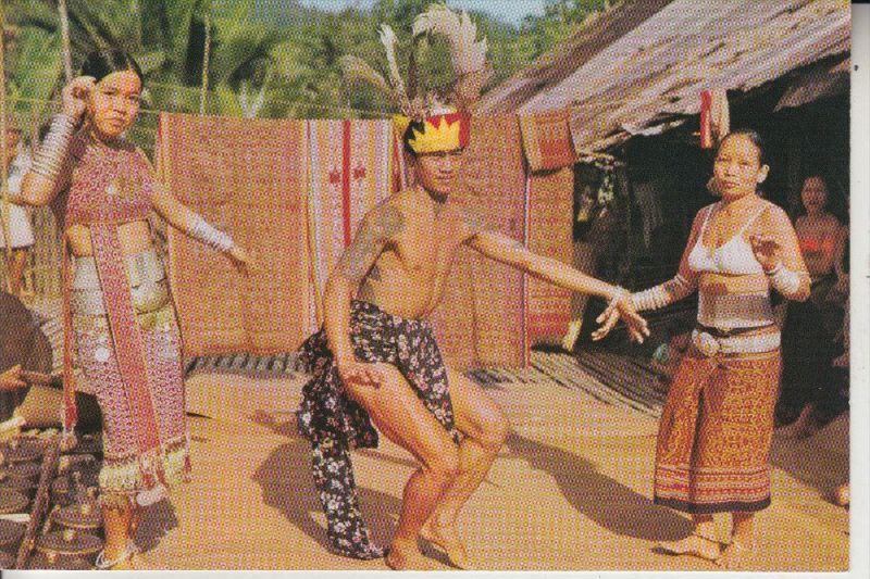 VÖLKERKUNDE - ETHNIC - MALAYSIA, Sarawak, Dayaks dancing