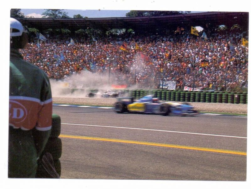 RACING - FORMULA 1, MICHAEL SCHUMACHER / DAMON HILL, 1995 Hockenheim