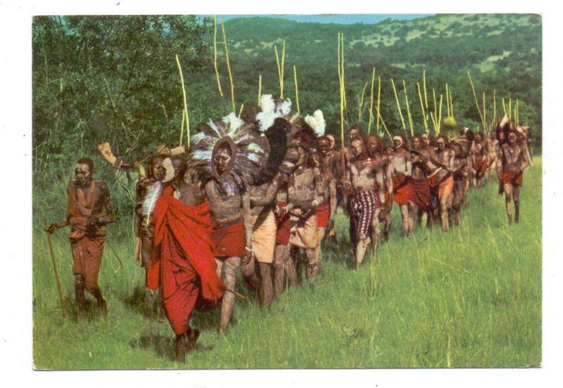 VÖLKERKUNDE / Ethnic - Masai Dancers, Kenia