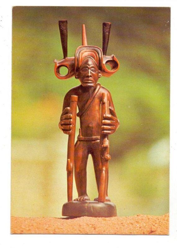 VÖLKERKUNDE / Ethnic - ANGOLA, Tsibinda llunga TAAG-advertising card