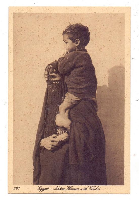 VÖLKERKUNDE / Ethnic, Native Women and Child, Egypt