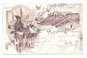 0-3603 DINGELSTEDT - HUYSBURG, Lithographie 1903, Husyburg, Danielshöhle, Klosterkirche, Klosterthor