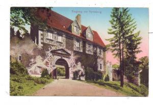 NIEDER-SCHLESIEN - KYNAU / ZAGORZE SLASKIE, Eingang der Kynsburg, 1919