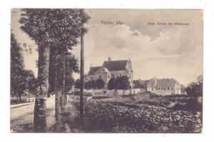 WESTPREUSSEN - FLATOW / ZLOTOW, Katholische Kirche mit Pfarrhaus