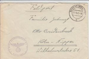 WESTPREUSSEN - BERENT - Feldpostbrief 2.Weltkrieg 1942