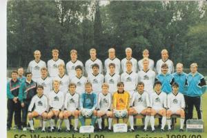 SPORT - FUSSBALL - SG WATTENSCHEID 09 - Manschaftsfoto Saison 1989/90