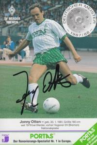 SPORT - FUSSBALL - WERDER BREMEN - JONNY OTTEN - Autogramm