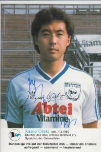 SPORT - FUSSBALL - ARMINIA BIELEFELD - KAZUO OZAKI - Autogramm