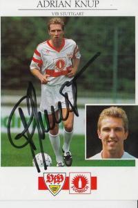 SPORT - FUSSBALL - VfB STUTTGART - ADRIAN KNUP - Autogramm