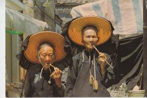 CHINA - HONGKONG, Village women outside Kathing Walled City