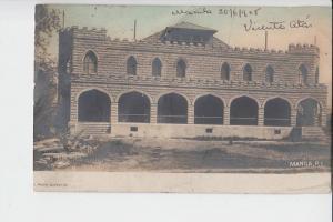 RP PHILIPPINEN, Manila 1905, frühe Farbkarte, early color-card - AF - kl.Knicke
