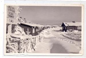 5244 DAADEN, Truppenübungsplatz, Lagerstrasse im Schnee, Photo-AK, 1955, kl. Randmangel