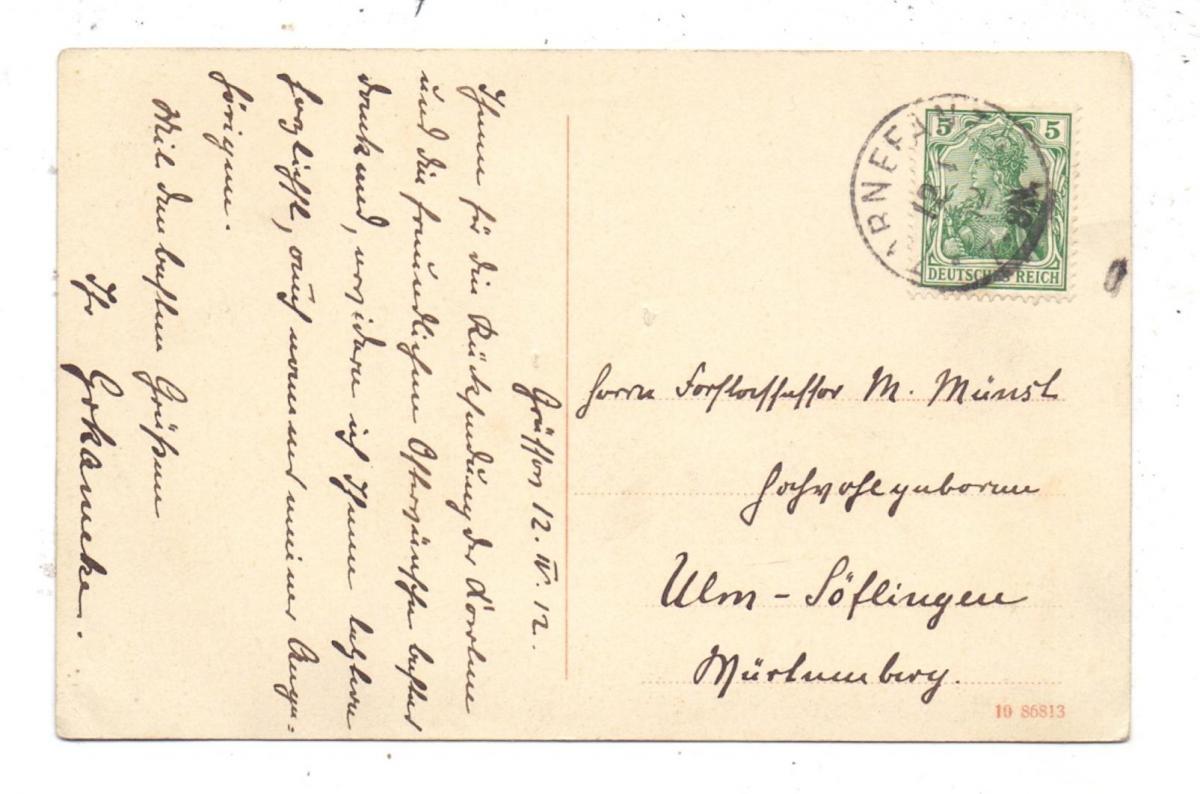 POMMERN - BELGARD-GRÜSSOW / BIALOGARD-GRUSZEWO, Schloss, Photo-AK, 1912, in Zarnefranz aufgegeben 1