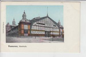 3000 HANNOVER, Markthalle, frühe Karte, ungeteilte Rückseite