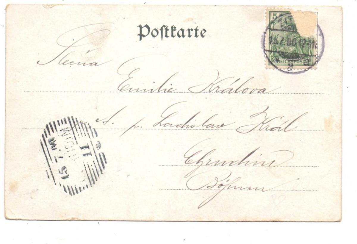 0-8806 OYBIN, Kleeblatt-Lithographie, 1900 1