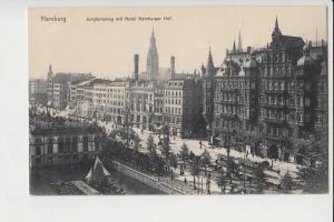 2000 HAMBURG, Jungfernstieg mit Hotel Hamburger Hof, 1912