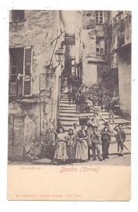 F 20200 BASTIA, Corse 2B, Une vieille rue, animee