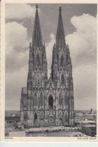 5000 KÖLN, KÖLNER DOM, Westansicht mit Zerstörungen 2.Weltkrieg