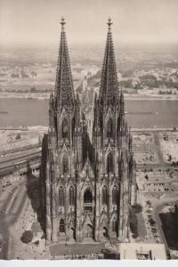 5000 KÖLN, KÖLNER DOM - Westseite - Luftaufnahme 1952 - Zerstörungen 2.Weltkrieg