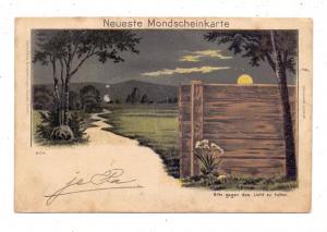 HALT GEGEN DAS LICHT / Hold to Light, Neueste Mondscheinkarte, 1903