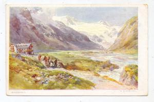 A 5710 KAPRUN, Moserboden, Künstler-Karte Compton