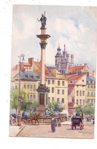 PL 00-001 WARSZAWA / WARSCHAU, Plac Zamkowy, Künstler-Karte T. Cieslewski