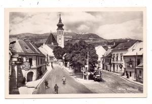 A 1000 WIEN - GRINZING, Pfarrkirche, Strassenpartie, Oldtimer Bus