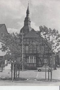 4784 RÜTHEN, Fachwerkhaus mit Kirche