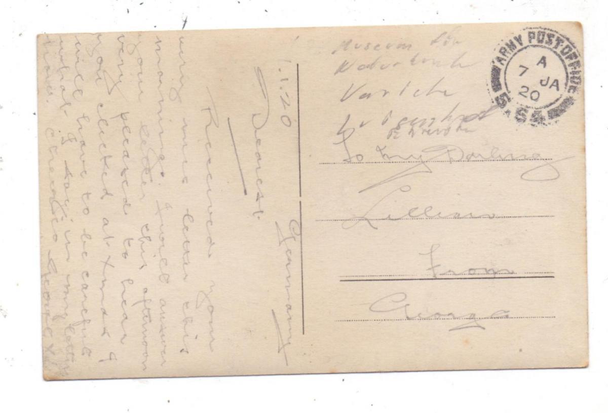 5000  KÖLN, EREIGNIS, Hochwasser 1920, Museum für Naturkunde, Photo-AK, englische Feldpost 1