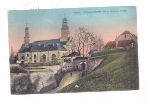 NIEDER-SCHLESIEN - GLATZ / KLODZKO, Frankensteiner Tor und evangelische Kirche