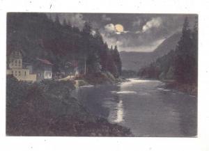 BÖHMEN & MÄHREN - KARLSBAD / KARLOVY VARY, Hans Heiling bei Karlsbad, Mondscheinkarte, 1925