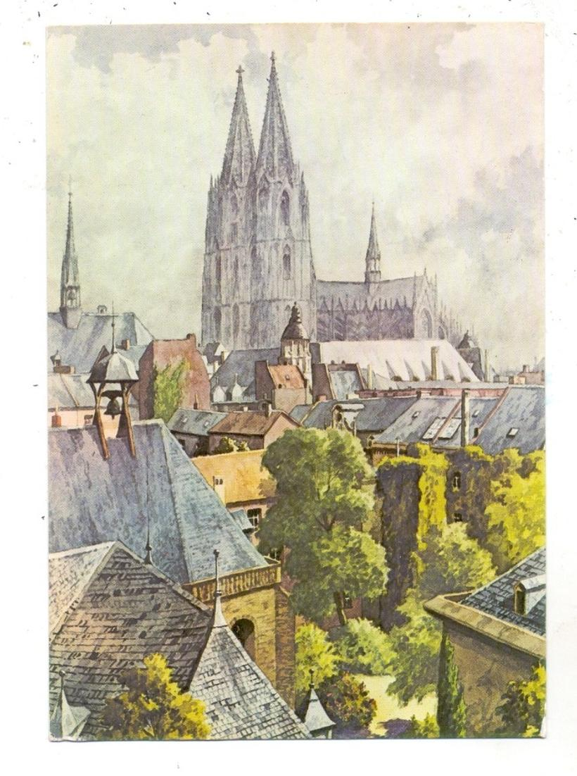 5000 KÖLN, Altstadt mit Kölner Dom, Künstler-Karte Prof. C. Determeyer 0