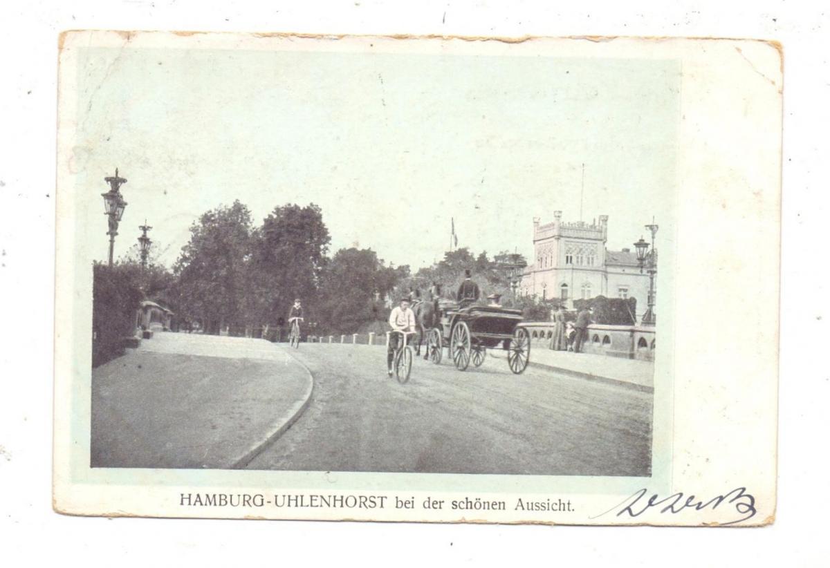 2000 HAMBURG - UHLENHORST, Bei der Schönen Aussicht, 1905, Oberrand leicht berieben 0