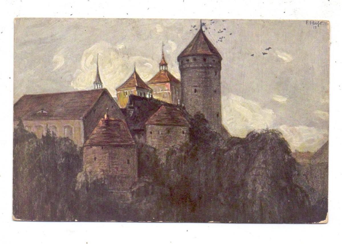 OSTPREUSSEN - RÖSSEL / RESZEL, Schloß und Kirche, Künstlerkarte Fritz Haß 0